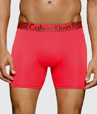 $42 CALVIN KLEIN UNDERWEAR MENS RED NB1022 STRETCH FIT MICRO BOXER BRIEF SIZE L