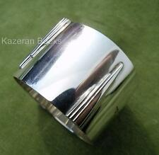 Vintage style art déco moderne architectural sterling silver napkin ring 1950