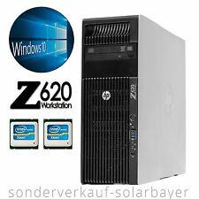PC HP Z620 Workstation 2x Xeon 8-core E5-2660 RAM 32GB SSD 256GB Quadro 600 +W10