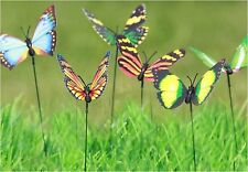 Garden Stake Butterfly Outdoor Party 24 Piece Art Decor Patio Ornaments Lawn Set
