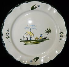 "Minty VARAGES 1 Tree CABANON 11"" Chop Lg Dinner Plate French Cottage France"