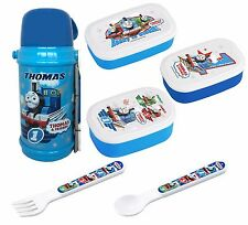 Thomas Set from Japan - Insulating Thermos, Three Bento Boxes, Spoon & Fork