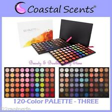 NEW Coastal Scents 120-Color PALETTE THREE Eye Shadow FREE PRIORITY SHIPPING 3rd