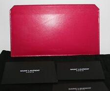 YSL Yves Saint Laurent Paris Open Slots Wallet Travel NIP New Pink Fuschia