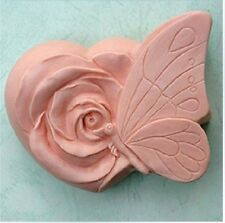 Butterfly Flower S056 Silicone Soap mold Craft Molds DIY Handmade soap mould