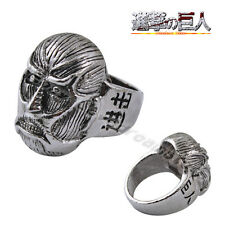 1pc Attack On Titan Affiliation Corps Colossal Titan Metal Finger Ring Cosplay