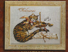 Chadivarius - fantasy cat cross stitch chart - Nimue