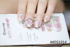 16X Flower Nail Wrap Adesivo Decalcomanie Adesivi NAIL PATCH FASHION mds1014