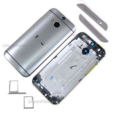 Gray Original HTC One M8 Battery Cover Back Case Rear Housing Door Replacement