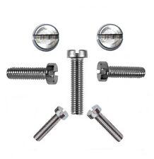 50 Stk. Zylinderschrauben mit Schlitz 3 mm DIN 84 M 3 x 50 V2A - Profi Qualität