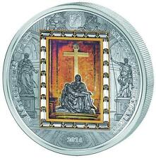 Cook 2014 20$ Michelangelo's Pieta Masterpieces of Art 3oz Silver Gold Coin