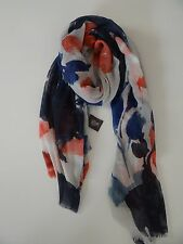 Vince Camuto Women's Red/Blue Poly/Viscose Rectangle Head Scarf Wrap Sale