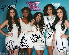 "Fifth Harmony girl band Reprint Signed 8x10"" Photo #3 RP The Voice ALL 5"