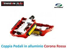 0083 - Coppia Pedali XERAMA Alluminio Rosso per Bici 27,5-29 MTB Mountain Bike