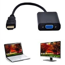 1080p HDMI to VGA Cable Video Converter Adapter for Laptop PC DVD HDTV PS3 FT