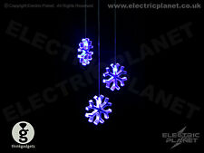 Snowflake Colour-Changing Acrylic LED Mobile Light - Battery Powered