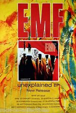 EMF 1992 Unexplained Rare UK Jumbo Promo Poster Original