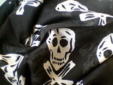 """INDIAN 100% PURE COTTON 40""""x 40"""" SQUARE SCARF WITH A SKULL PATTERN  £3.95 NWT"""