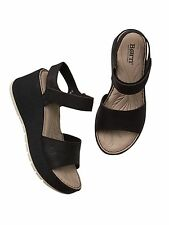 Athleta Lucee Wedge Sandal by Born, BLACK SIZE 11 M     #141152
