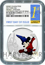 DISNEY MICKEY THROUGH THE AGES: FANTASIA  - NGC PF70 FIRST DAY OF ISSUE