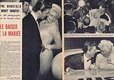Coupure de presse Clipping 1958 Jayne Mansfield & Mickey Hargitay (6 pages)