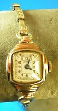 Vintage 1950's Swiss Base Metal Lorna Watch Co Lady's 7 Jewel Watch Running