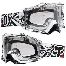 FOX AIRSPC MOTOCROSS MX GOGGLES ENCORE WHITE clear tear-off enduro mtb bike