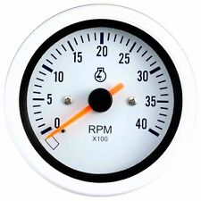 85mm auto gauge 0-4000 rpm Tachometer for marine yacht (White Face)