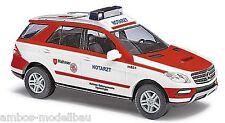 BUSCH 43313 H0 MB M-Klasse, Malteser Notarzt, Mercedes Benz W-166, Neu
