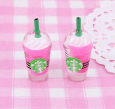 4 x Yummy Frappe Frappuccino Drink 3D Cabochons Craft Decoden Kawaii Embellish