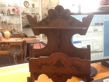 Antique Arts & Crafts/Art Nouveau-Walnut Wall Pocket & Shelf-Nice-Look!