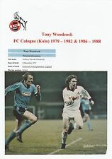 TONY WOODCOCK FC COLOGNE 1979-82 & 1986-88 ORIGINAL HAND SIGNED MAGAZINE CUTTING