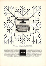 1963 TRIUMPH TYPEWRITERS Full Page Retro German Magazine Ad - Deutsch Werbung