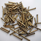 """1/16"""" x 1/2"""" Solid BRASS Rivets Model Engineer Live Steam Snap Head pkt of 100"""