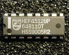 10x HEF4512BP 8-input multiplexer with 3-state output, Philips