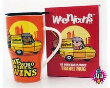 WEENICONS HE WHO DARES WINS RELIANT ORANGE TRAVEL MUG COFFEE CUP NEW GIFT BOX