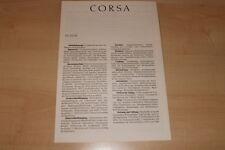 67442) Opel Corsa A - technische Daten & Ausstattungen - Prospekt 07/1987