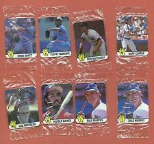 1987 CANADIAN HOSTESS CHIPS Baseball Superstars - 8 cards in original wrapping
