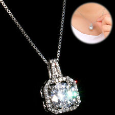 New Wedding Ablaze Cubic Zirconia CZ Crystal Rhinestone Womens Pendant Necklace