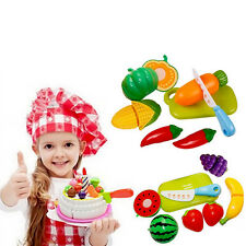 1 set Pretend Role Play Kitchen Fruit Vegetable Food Toy Cutting Set Child Gifts