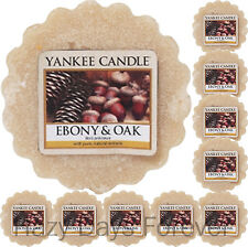 10 YANKEE CANDLE WAX TARTS Ebony and Oak NEW 2016 MELTS eucalyptus & patchouli
