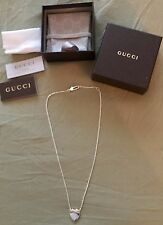 GUCCI HEART PENDANT WHITH CHAIN100% AUTHENTIC WITH CERTIFICATE