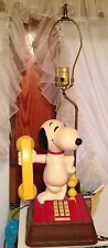 Vintage 1970's Snoopy And Woodstock Telephone And Lamp