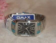 Omax Men's Stainless Steel Black Dial 30M Watch CS490 new