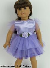 "DOLL CLOTHES FITS 18"" American Girl Purple Lavender TuTu Dress 1pc"