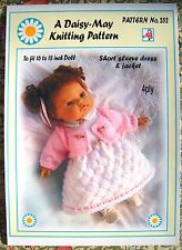 "1 DOLLS KNITTING PATTERN   No 252 by Val Young 16""-18"" doll size"