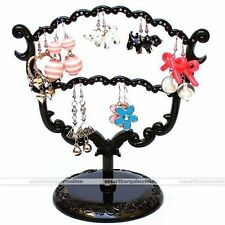 Retro Black Eardrop Earring Jewelry Display Holder Stand Organizer Tree