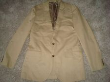 New J crew Ludlow suit jacket with double vent in Italian chino 36S A0498 Khaki