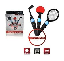 3 in 1 Sports Pack Tennis Racket Golf Club Ping Pong for Playstation 3 PS3 Move