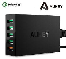 New Aukey PA-T15 QC 3.0 5 Port USB Charger 5V 7.2A (54W) Wall Adapter (Qualcomm)